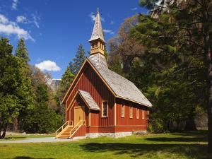 View of Yosemite Chapel in Springtime, Yosemite National Park, California, Usa by Dennis Flaherty