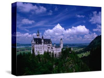 King Ludwig II's Neuschwanstein Castle and Countryside Around It, Fussen, Bavaria, Germany