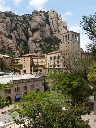 The Santa Maria De Montserrat, Benedictine Abbey on Montserrat Mountain