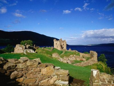 Urquhart Castle Remains on Shores of Loch Ness, Drumnadrochit, United Kingdom