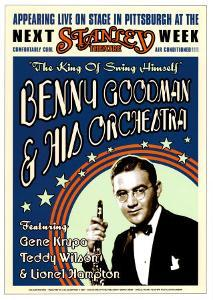 Benny Goodman Orchestra at the Stanley Theatre, Pittsburgh, Pennsylvania, 1936 by Dennis Loren