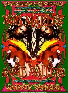 Bob Marley & Stevie Wonder by Dennis Loren