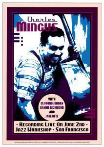 Charles Mingus Recording Live at the Jazz Workshop, San Francisco by Dennis Loren