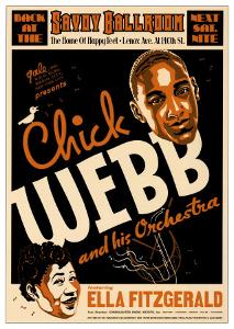 Chick Webb and Ella Fitzgerald at the Savoy Ballroom, New York City, 1935 by Dennis Loren