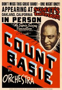 Count Basie Orchestra at Sweet's Ballroom, Oakland, California, 1939 by Dennis Loren