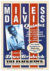 Miles Davis Quintet at the Blackhawk, San Francisco, California, 1957 by Dennis Loren