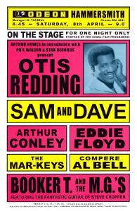 Otis Redding in Concert, 1967 by Dennis Loren
