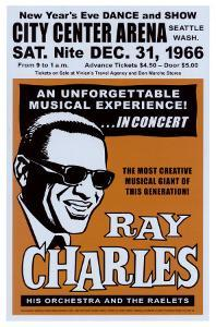 Ray Charles at the City Center Arena, Seattle, 1966 by Dennis Loren