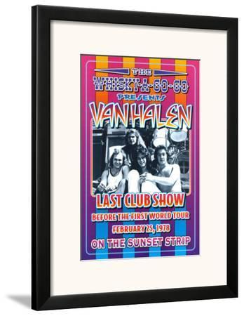 Van Halen at the Whiskey A-Go-Go by Dennis Loren