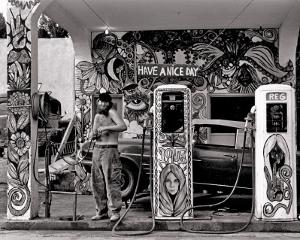 Hippie Gas Station, 1971 by Dennis Stock