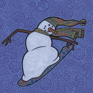 Snowman Snowboarder 2 by Denny Driver