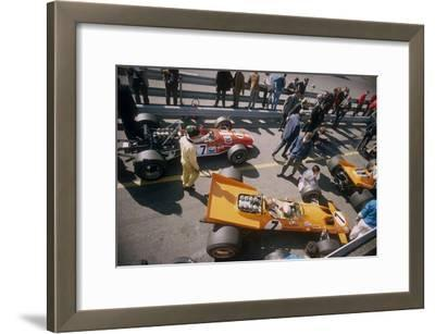 Denny Hulme's Mclaren Ford at the British Grand Prix, Silverstone, Northamptonshire, 1969