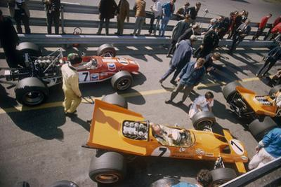 Denny Hulme's Mclaren Ford at the British Grand Prix, Silverstone, Northamptonshire, 1969