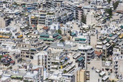 Dense Urban Areas in Athens, Greece-anastasios71-Photographic Print