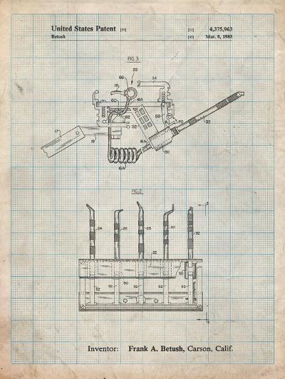 Dental Tools Patent-Cole Borders-Art Print