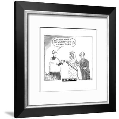 DENTIMONY - New Yorker Cartoon-Jack Ziegler-Framed Premium Giclee Print