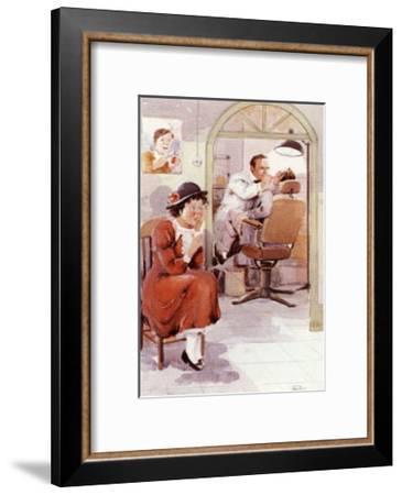 Dentist-Joaquin Moragues-Framed Art Print