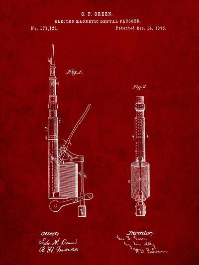 Dentists Drill Patent-Cole Borders-Art Print
