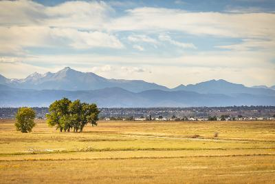Denver, CO, USA: Landscape Of Rocky Mountain Arsenal National Wildlife Refuge With Rocky Mts Bkgd-Axel Brunst-Photographic Print