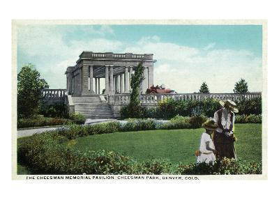 Denver, Colorado - Cheesman Memorial Pavilion View in Park-Lantern Press-Art Print