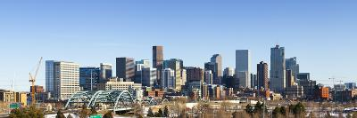 Denver Colorado City Skyline from West Side of Town. Snow Covered Ground Winter.-Ambient Ideas-Photographic Print