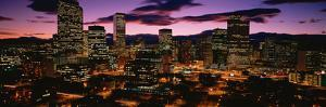 Denver, Colorado Skyline at Dusk