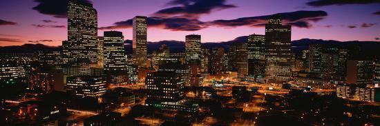 Denver, Colorado Skyline at Dusk--Photographic Print