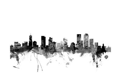 Denver Colorado Skyline-Michael Tompsett-Art Print