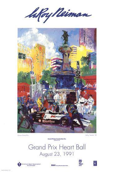 Denver Grand Prix-LeRoy Neiman-Art Print