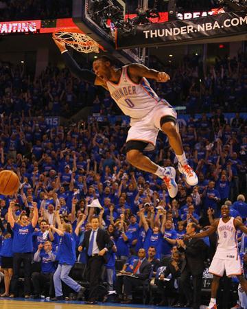Denver Nuggets v Oklahoma City Thunder - Game One, Oklahoma City, OK - April 17: Russell Westbrook