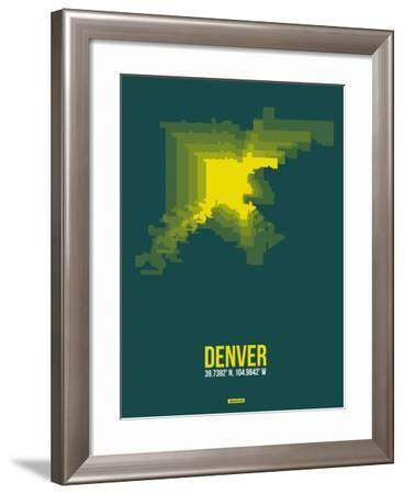 Denver Radiant Map 3-NaxArt-Framed Art Print