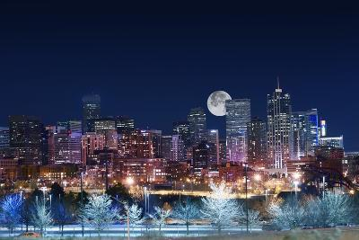 Denver Skyline West-duallogic-Photographic Print