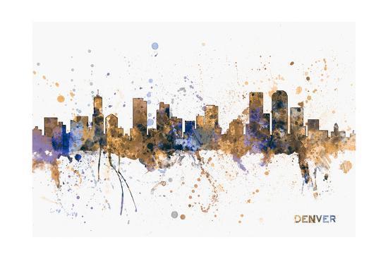 Denver Skyline-Michael Tompsett-Art Print