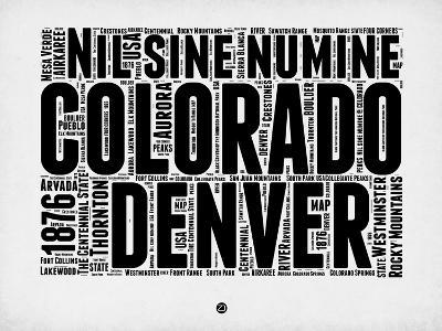Denver Word Cloud 2-NaxArt-Art Print