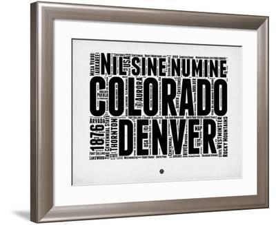 Denver Word Cloud 2-NaxArt-Framed Art Print