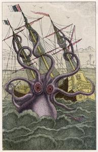Kraken Attacks a Sailing Vessel by Denys De Montfort
