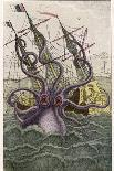 Kraken Attacks a Sailing Vessel-Denys De Montfort-Premium Giclee Print