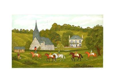 Départ des cavaliers à la Roque Baignard-Vincent Haddelsey-Limited Edition