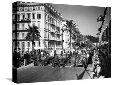 Depart du Grand Prix automobile de Nice 1934-Charles Delius-Stretched Canvas Print