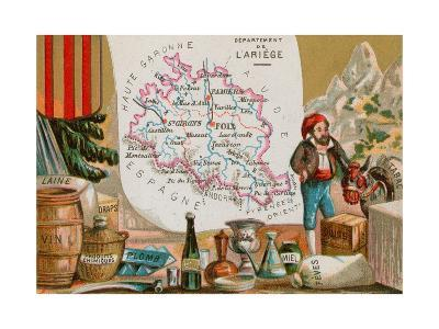 Department of Ariege in Southwestern France--Giclee Print