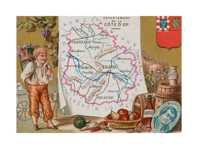Department of Cote D'Or in Eastern France--Giclee Print