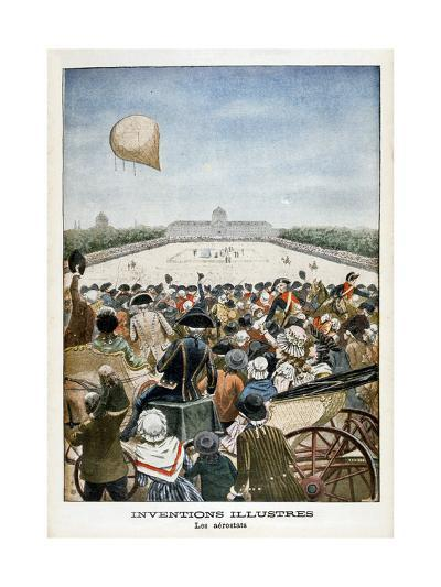 Departure of a Balloon from Paris on 27th June 1783--Giclee Print