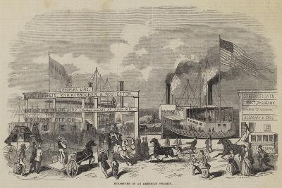 Departure of an American Steamer--Giclee Print