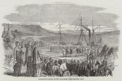 Departure of General Godwin from Prome--Giclee Print