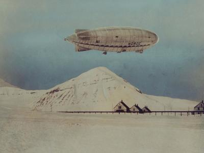 Departure of Italian Built Dirigible Norge, which Explorer Roald Amundsen Flew to North Pole--Photographic Print