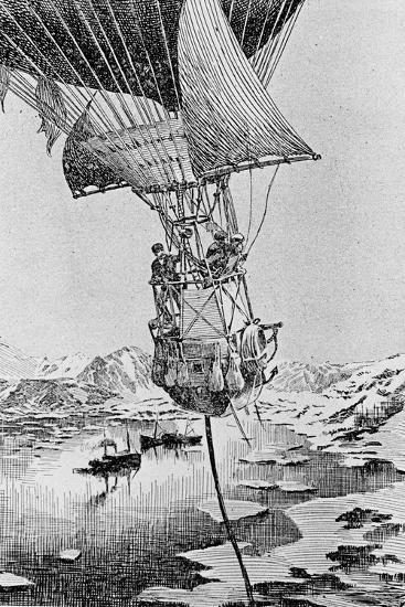 Departure of the Andree Balloon Expedition to the North Pole, Spitzbergen, 1897--Giclee Print