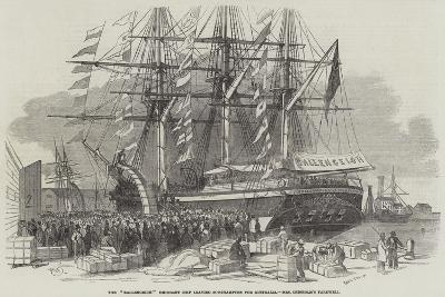 Departure of the Ballengeich Emigrant Ship from Southampton-Edwin Weedon-Giclee Print