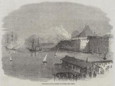Departure of the Empress of Austria from Corfu--Giclee Print