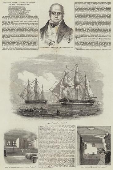 Departure of the Erebus and Terror on the Arctic Expedition--Giclee Print