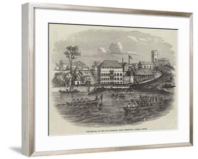 Departure of the Ex-Governor from Freetown, Sierra Leone--Framed Giclee Print